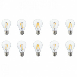 LED Lamp 10 Pack - Filament - E27 Fitting - 8W - Warm Wit 2700K