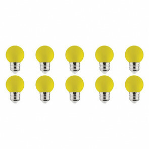 LED Lamp 10 Pack - Romba - Geel Gekleurd - E27 Fitting - 1W