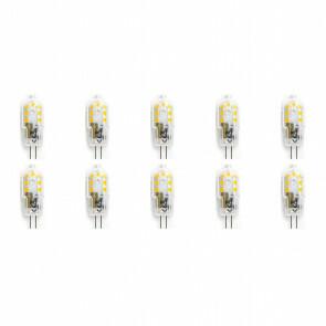 LED Lamp 10 Pack - Aigi - G4 Fitting - 2W - Helder/Koud Wit 6500K | Vervangt 20W