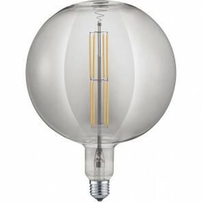 LED Lamp - Design - Trion Globe - Dimbaar - E27 Fitting - Rookkleur - 8W - Warm Wit 2700K