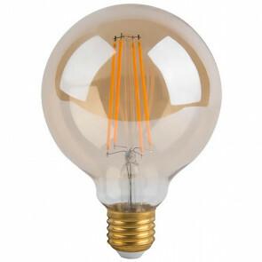 LED Lamp - Facto - Filament Rustiek Globe - E27 Fitting - 5W - Warm Wit 2700K