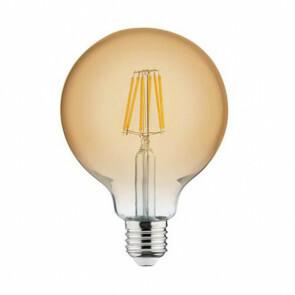 LED Lamp - Filament Rustiek - Globe - E27 Fitting - 6W - Warm Wit 2200K