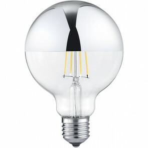 LED Lamp - Filament - Trion Limpo - E27 Fitting - 7W - Warm Wit 2700K - Glans Chroom - Glas
