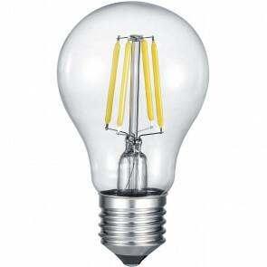 LED Lamp - Filament - Trion Limpo - E27 Fitting - 7W - Warm Wit 2700K - Glans Chroom - Glas
