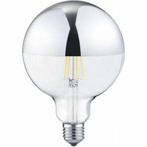LED Lamp - Filament XL - E27 Fitting - 7W - Warm Wit 2700K - Glans Chroom - Glas