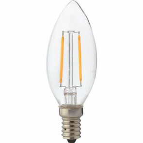 LED Lamp - Kaarslamp - Filament - E14 Fitting - 4W - Warm Wit 2700K