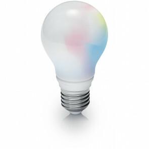 LED Lamp WiZ - Trion Akusti - E27 Fitting - 8W - Slimme LED - Dimbaar - RGBW - Mat Wit - Kunststof