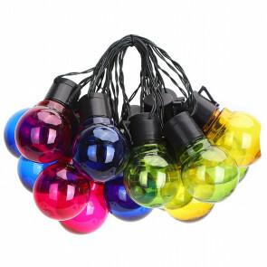 LED Lichtsnoer met Zonne-energie - Aigi Ligo - Meerkleurig - 20W - 5.8 Meter - Waterdicht IP44 - Zwart