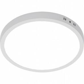 LED Paneel - Ø30 Helder/Koud Wit 6000K - 28W Opbouw Rond - Mat Wit - Flikkervrij