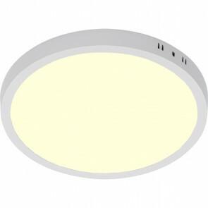 LED Paneel - Ø30 Warm Wit 3000K - 28W Opbouw Rond - Mat Wit - Flikkervrij