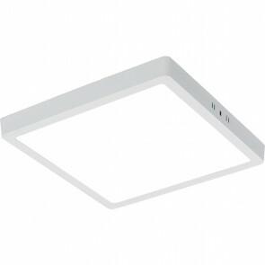 LED Paneel - 30x30 Helder/Koud Wit 6000K - 28W Opbouw Vierkant - Mat Wit - Flikkervrij