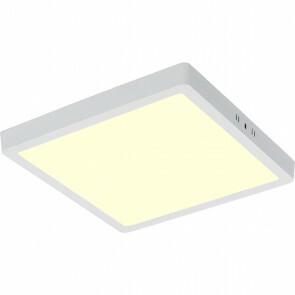 LED Paneel - 30x30 Warm Wit 3000K - 28W Opbouw Vierkant - Mat Wit - Flikkervrij
