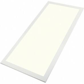 LED Paneel - Aigi - 60x120 Natuurlijk Wit 4000K - 60W Inbouw Rechthoek - Mat Wit Aluminium