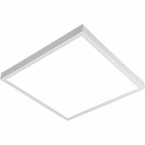 LED Paneel - Aigi Clena - 30x30 Helder/Koud Wit 6000K - 12W Opbouw Vierkant - Mat Wit - Flikkervrij