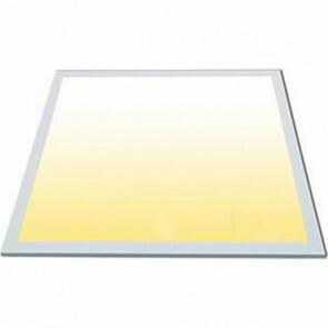 LED Paneel - Viron Ganto - 60x60 Aanpasbare Kleur - 40W Inbouw Vierkant - Smart Wifi - Dimbaar - Mat Wit - Aluminium