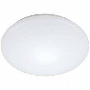 LED Plafondlamp met Bewegingssensor - Strum - 24W - Opbouw Rond - Natuurlijk Wit 4200K - 360° - Mat Wit - Aluminium