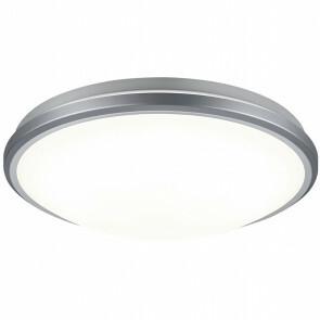 LED Plafondlamp met Bewegingssensor - Trion Alca - Opbouw Rond 12W - Warm Wit 3000K - 360° - Mat Titaan