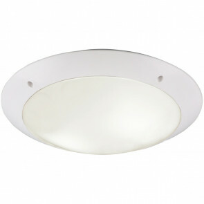 LED Plafondlamp - Trion Camiro - Opbouw Rond - Waterdicht IP54 - E27 Fitting - 2-lichts - Mat Wit - Kunststof