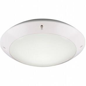 LED Plafondlamp - Trion Camiro - Opbouw Rond - Waterdicht IP54 - E27 Fitting - Mat Wit - Kunststof