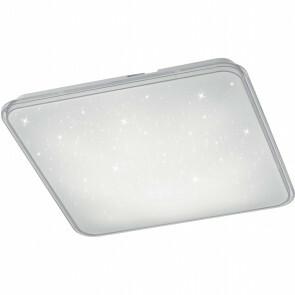 LED Plafondlamp - Trion Cintro - 21W - Natuurlijk Wit 4000K - Dimbaar - Vierkant - Mat Wit - Kunststof