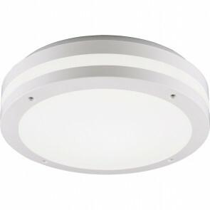 LED Plafondlamp - Trion Keraly - Opbouw Rond - Bewegingssensor - Waterdicht - 12W - Mat Wit - Kunststof
