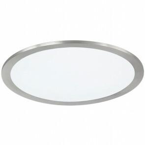 LED Plafondlamp WiZ - Trion Givon - 15W - Aanpasbare Kleur - Dimbaar - Afstandsbediening - Rond - Mat Nikkel - Aluminium