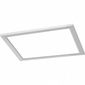 LED Plafondlamp WiZ - Trion Givon - 15W - Aanpasbare Kleur - Dimbaar - Afstandsbediening - Vierkant - Mat Nikkel - Aluminium