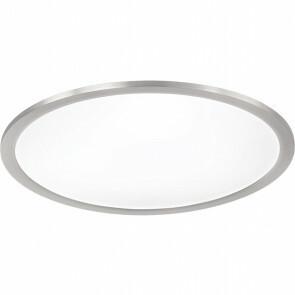 LED Plafondlamp WiZ - Trion Givon - 36W - Aanpasbare Kleur - Dimbaar - Afstandsbediening - Rond - Mat Nikkel - Aluminium