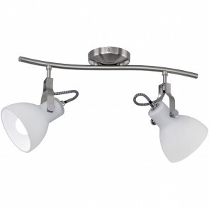LED Plafondspot - Plafondverlichting - Trion Ginola - E14 Fitting - 2-lichts - Rond - Mat Nikkel - Aluminium