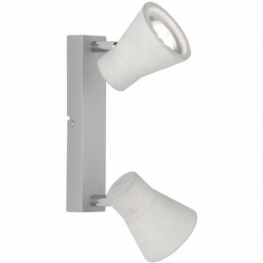 LED Plafondspot - Trion Antyna - GU10 Fitting - 6W - Warm Wit 3000K - 2-lichts - Rond - Beton Look - Aluminium