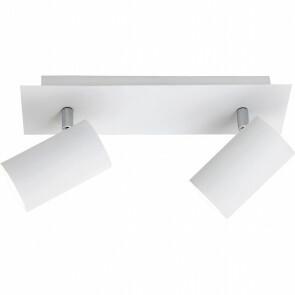 LED Plafondspot - Trion Mary - GU10 Fitting - 2-lichts - Rechthoek - Mat Wit - Aluminium