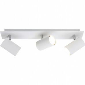 LED Plafondspot - Trion Mary - GU10 Fitting - 3-lichts - Rechthoek - Mat Wit - Aluminium
