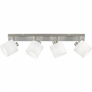 LED Plafondspot - Trion Torry - E14 Fitting - 4-lichts - Rechthoek - Mat Nikkel - Aluminium