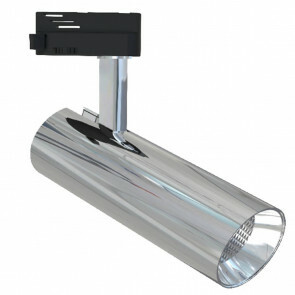 LED Railverlichting - Track Spot - Facto - 30W 1 Fase - Rond - Warm Wit 3000K - Glans Chroom Aluminium