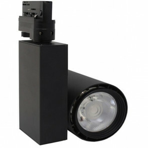 LED Railverlichting - Track Spot - Facto - 40W 3 Fase - Rond - Natuurlijk Wit 4000K - Mat Zwart Aluminium