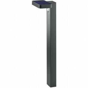 LED Solar Tuinverlichting - Paal/Sokkel - Trion Escarino - Zonne-energie - Bewegingssensor - 4W - Mat Zwart - Roestvast Staal