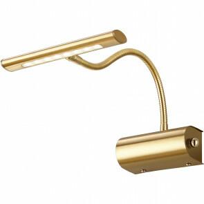 LED Spiegelverlichting - Schilderijverlichting - Trion Curty - Ovaal 4W - Dimbaar - Mat Goud Aluminium - Verstelbaar
