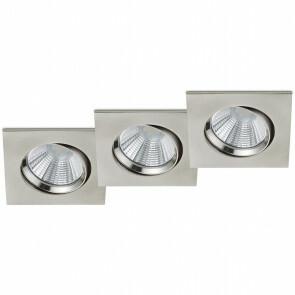 LED Spot - Inbouwspot - Trion Paniro - Vierkant 5W - Dimbaar - Warm Wit 3000K - Mat Nikkel - Aluminium - 80mm