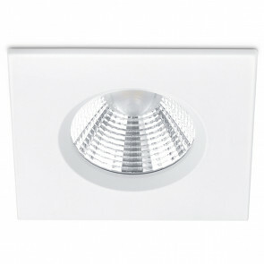 LED Spot - Inbouwspot - Trion Zagrona - 5W - Waterdicht IP65 - Dimbaar - Warm Wit 3000K - Mat Wit - Aluminium - Vierkant