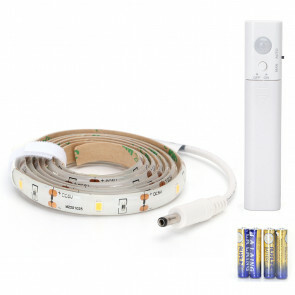 LED Strip Set met Sensor op Batterijen - Aigi Stippi - 1 Meter - Warm Wit 3000K - 1.5V