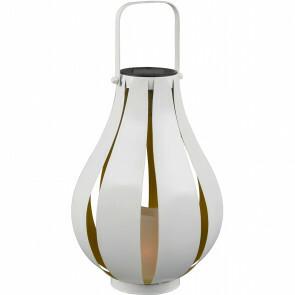 LED Tafellamp met Zonne-energie - Trion Monte - Dag en Nacht Sensor - Spatwaterdicht IP44 - Rond - Mat Wit - Aluminium