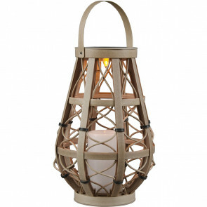 LED Tafellamp met Zonne-energie - Trion Venny - Dag en Nacht Sensor - Spatwaterdicht IP44 - Ovaal - Mat Crème - Kunststof