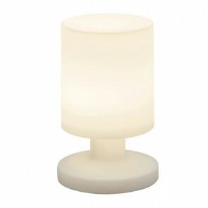 LED Tafellamp - Rond - Wit - Kunststof - Spatwaterdicht - USB Oplaadbaar
