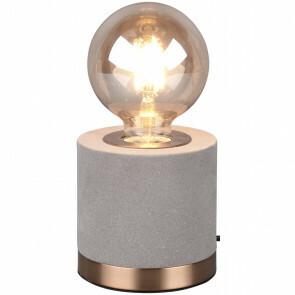 LED Tafellamp - Tafelverlichting - Trion Juda - E27 Fitting - Rond - Mat Grijs - Fluweel