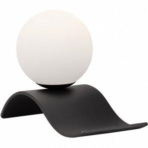 LED Tafellamp - Tafelverlichting - Trion Milora - E14 Fitting - Rond - Mat Zwart - Aluminium