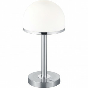LED Tafellamp - Trion Berl - 4W - Warm Wit 3000K - 1-lichts - Dimbaar - Rond - Mat Nikkel - Aluminium