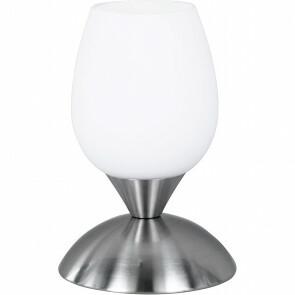 LED Tafellamp - Trion Capu - E14 Fitting - Dimbaar - Rond - Mat Nikkel - Aluminium