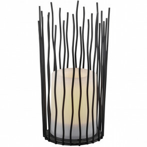 LED Tafellamp - Trion Corli - Zonne-energie - Oplaadbaar - Rond - Mat Zwart - Aluminium