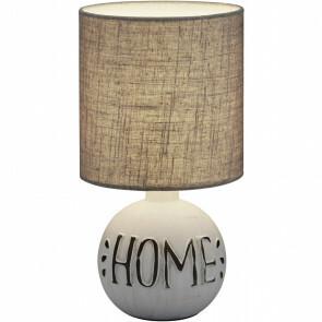 LED Tafellamp - Trion Ernami Home - E14 Fitting - Rond - Mat Grijs - Keramiek