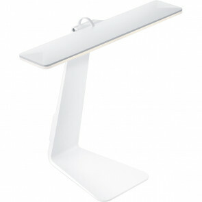 LED Tafellamp - Trion Herioly - Dimbaar - USB Oplaadbaar - Wit - Aluminium